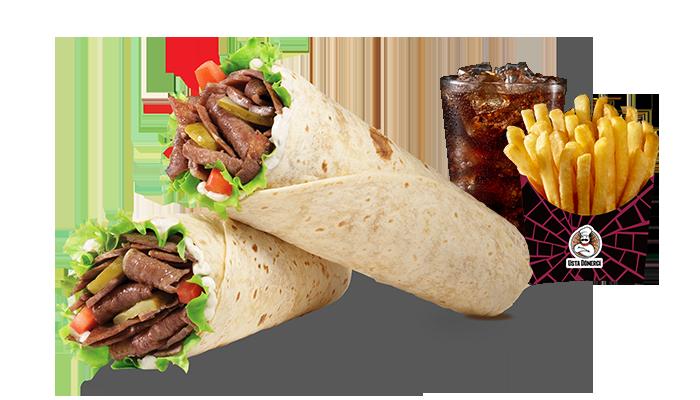 meat doner wrap menu usta dönerci